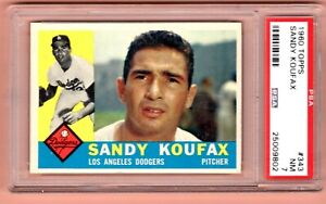 1960 Topps #343 Sandy Koufax Los Angeles Dodgers  PSA 7 NM  SHARP