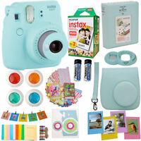 Fujifilm Instax Mini 9 Instant Camera Ice Blue + 20 Sheet Film Deluxe Acc Bundle