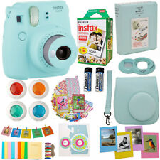 Fujifilm Instax Mini 9 Instant Camera Ice Blue + 20 Film All in One Acc Bundle