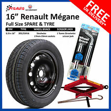 "Renault Megane 2008 - 2019 FULL SIZE STEEL SPARE WHEEL 16""  AND TYRE + TOOL KIT"