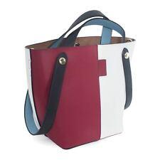 Womens Two-Tone Leather Bucket Bag Handbag Tote bag. New! Ship Free!