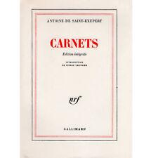 SAINT-EXUPERY Carnets Edt intégrale en partie originale 1/56 ex. sur pur-fil