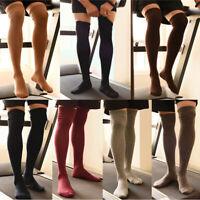 Men Winter Tight High Socks Elastic Hosiery Stockings Slim Fit Thick Warm Socks