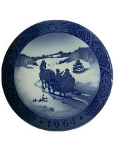Royal Copenhagen Denmark 7� Christmas Plate 1964 Fetching The Christmas Tree