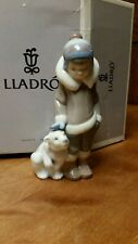 """Lladro """"Eskimo Boy with Whipet"""" #05238 Retired Mint Condition"""
