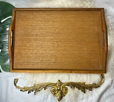 Large Wooden Serving Tray With Handles Food Tea Coffee Beverage Lightweight