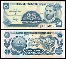 Nicaragua  25 Centavos  1991  Pick 170a2  SC = UNC
