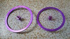 Purple anodized Velocity B43s with Soma Formula Hubs & FSA rim tape + New Tire
