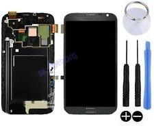 ECRAN LCD + VITRE TACTILE SUR CHASSIS POUR SAMSUNG GALAXY NOTE 2 LTE N7105 GRIS