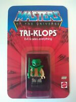 Masters of the Universe HE-MAN Custom Vintage Style Carded TRI-KLOPS Minifigure