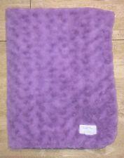 Cuddle Time Baby Blanket Purple Minky Plush Swirl Velour Cuddletime Lovey