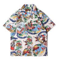 HAWAII ALOHA Shirts Labour Union Hawaiian Shirt Summer Short Sleeve