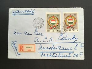 HUNGARY 1930 KENDERES REGISTERED COVER TO HOLLAND