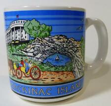 "Mackinac Island MI Coffee Tea Mug Cup 3-1/2""x3"" Bridge Fort Arch Rock Horse"