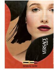 1998 Gianni Versace Cosmetics Makeup Print Ad Vintage Advertisement VTG 90s