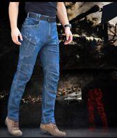 Men's Tactical Jeans Outdoor Pants Military Combat Urban Cargo Casual Hiking X7