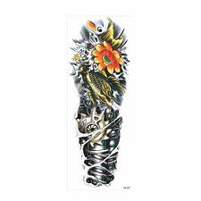 Tatouage temporaire éphémère, bras complet , multicolor, 17x46cm