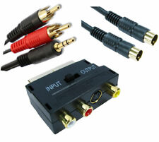5m PC Computer to TV Television Kit  incl. SVHS Cable Audio Lead & Scart Adapter