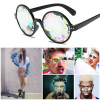 Round Kaleidoscope Glasses Rave Festival Men Women Sunglass Celebrity Eyewear