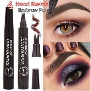 INS~3D Microblading Tattoo Eyebrow Ink Fork Tip Pen Eye Brow Pencil Pen Makeup++
