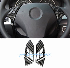 Real Carbon Fiber Steering Wheel Button Frame Trim For BMW 5 Series E60 2005-10
