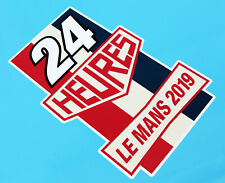 LE MANS 24 HOURS 2019 PAIR of Vintage Style 24 stickers decals 200mm tall