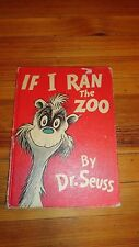 PRICE REDUCED!  IF I RAN THE ZOO by DR. SUESS 1950 first edition early printing