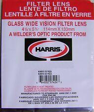 """Harris Shade 10 Welding Helmet Glass Filter Plate Lens 4 1/2"""" x 5 1/4"""" 1045100"""