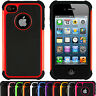 Shock Proof Hybrid Hard Armour Defender Case Tough Cover For Apple iPhone 4/4s