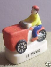 rare VELO TRIPORTEUR TRICYLE TRICYCLE FEVE PORCELAINE 3D 1/160 neuf