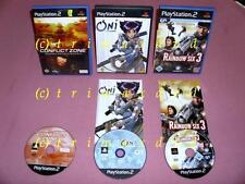 3x ps2 _ Rainbow Six 3 & Oni & conflict zona _ primeras ediciones _ 1000 juegos en la tienda