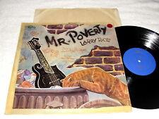 "Larry Rice ""Mr. Poverty"" 1975 Bluegrass LP, VG+, on King Bluegrass #KB-543, RARE"