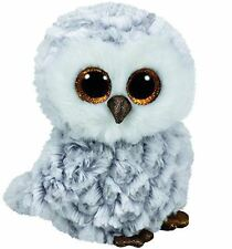 Owlette White Owl - Ty Beanie Boos 6 inch - TY Boo Teddy - Brand New Soft Toys