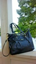 COACH Ashley F20104 Black Leather Tote Bag Handbag Purse