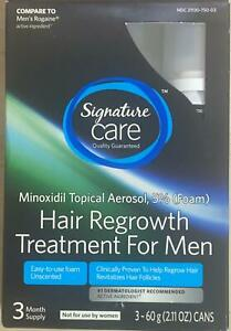 Signature Care Hair Regrowth Treatment For Men 3 Month Supply 5% minoxidil (H4)