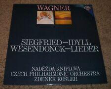 Wagner Siegfried Idyll Wesendonck Lieder Kniplova~1972 Czech Import~Insert