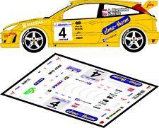 DECALS 1/43 FORD FOCUS RS WRC - #4 - WARMBOLD - RALLYE DE POLOGNE 2002 - D43137