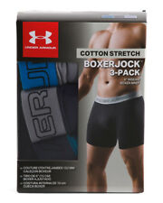 """Under Armour Ch Cotton 6"""" Stretch BoxerJock 3PK. LARGE SEE PIC FOR COLOR 24H SHP"""