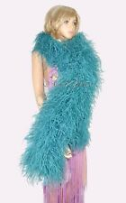 Teal 20 ply lightweight Luxury fluffy Ostrich Feather Boa Burlesque Costume