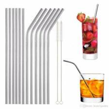 Нержавеющая сталь соломинки многоразовые 10.5 длинные металлические соломинка для стакан стекло
