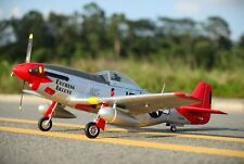 "P-51D, Red Tail, V8, Plug N Play, 1450mm (57"") Brushless RC Airplane"