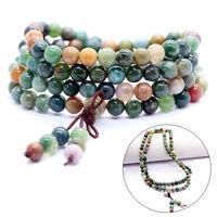 108 Prayer Tibetan 6mm India Agate Buddhist Beads Mala Bless Bracelet Necklace A