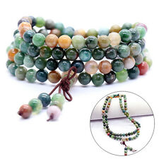 108 Prayer Tibetan 6mm India Agate Buddhist Beads Mala Bless Bracelet Necklace A