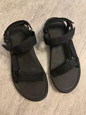 Teva Mens Sz 10 Black With 3 Adjustable Straps In Excellent Condition Sandals