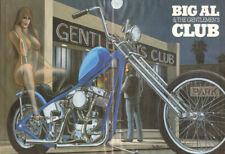 "1995 Vintage David Mann ""Big Al & The Gentlemen's Club"" 16 x 20 Matted Biker Art"