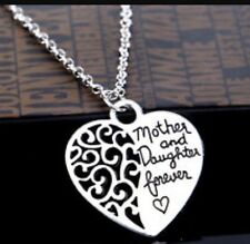 Mother and Daughter Forever Love Pendant Necklace