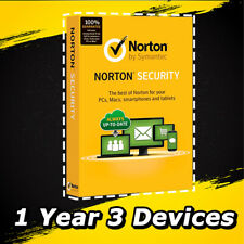 Symantec Norton Security Deluxe 2020 Antivirus Windows Version 1 Year 3-Devices