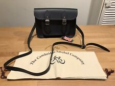 """The Cambridge Satchel NavyLeather Magnetic Satchel Bag!Size11""""! New!Only£109.90!"""