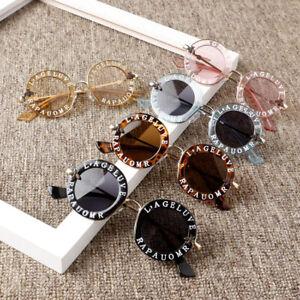 New Infant Kids Baby Girls Boys Fashion Sunglasses Letter Solid Hot Sun Glasses