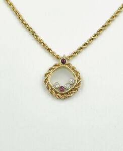 HN Jewels 5Carat Pear Shaped Citrine /& Sim Diamond Pendant 18 Chain 14K Yellow Gold FnFn